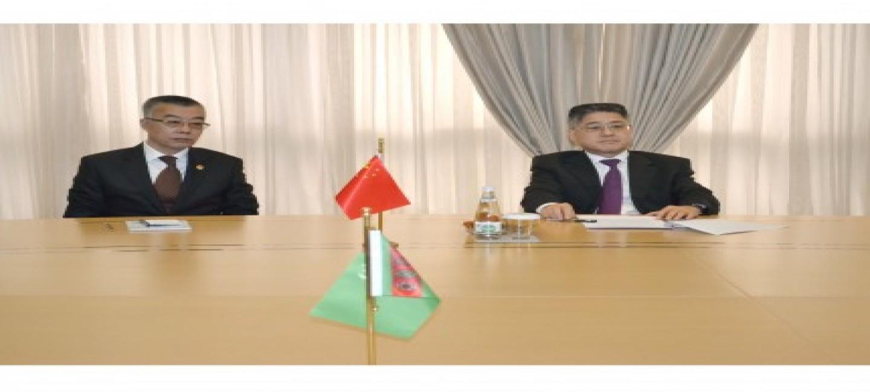 Встреча в МИД Туркменистана с заместителем министра иностранных дел КНР
