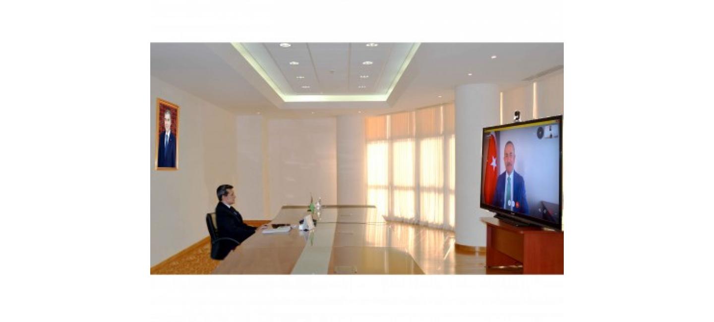 Türkmenistanyň we Türkiýäniň daşary işler ministrleriniň duşuşygy geçirildi