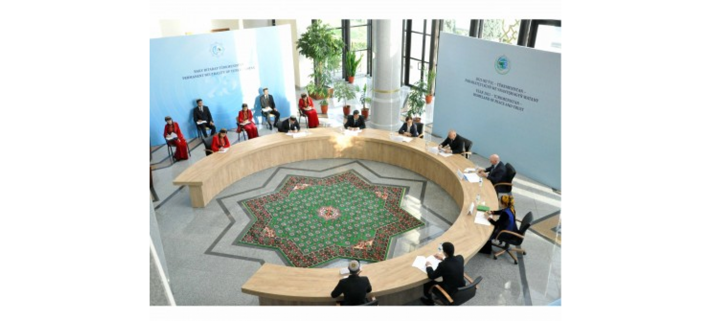 """A round table was held on the results of the International Conference """"Global Cooperation of Independent, Neutral Turkmenistan for the sake of Peace and Trust"""""""